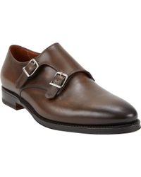 Battistoni Plaintoe Double Monk Shoes - Lyst