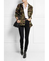 Saint Laurent Camouflage Print Cotton Gabardine Jacket - Lyst