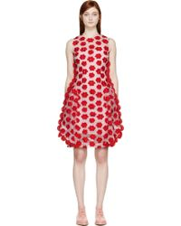 Simone Rocha Pink Embroidered Tulle Dress - Lyst