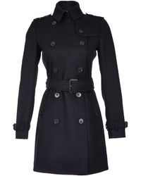 Burberry Buckingham Wool Trench Coat - Lyst