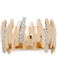 Kismet by Milka - Beat Ring - Gold/Clear - Lyst