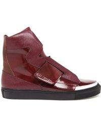 Raf Simons Leather High Top Trainers - Lyst