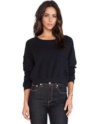 Textile Elizabeth and James - Distressed Perfect Sweatshirt - Lyst