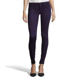 Ag Adriano Goldschmied Deep Purple Diamond Printed Denim Super Skinny The Legging Jeans - Lyst