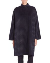 Max Mara | Addirsi Pinstripe Wool-blend Coat | Lyst