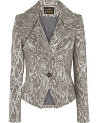 Vivienne Westwood Anglomania Whisper Metallic Snake Jacquard Jacket - Lyst
