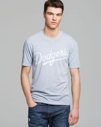 Red Jacket Blue Dodgers Tee - Lyst