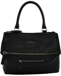 "Givenchy Black Leather Medium ""Pandora"" Bag black - Lyst"