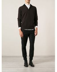 Ferragamo Zipped Sweater - Lyst