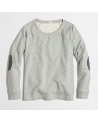 J.Crew Elbow Patch Sweatshirt - Lyst