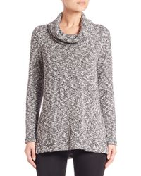 Splendid | Lake Front Marled Knit Cowlneck Sweater | Lyst