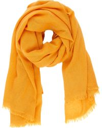 Barneys New York Orange Cashmere Scarf - Lyst