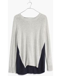 Madewell Back-zip Pullover in Colorblock - Lyst