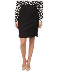 Kate Spade Cotton Twill Pencil Skirt - Lyst