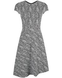 Stella McCartney Herringbone Short Sleeve Dress - Lyst