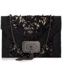 Marchesa Casati Large Lace Shoulder Bag Black - Lyst