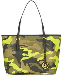 Michael by Michael Kors Camo Small Jet Set Travel Tote - Lyst