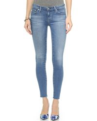 Ag Adriano Goldschmied Raw Hem Legging Ankle Jeans - 22 Years Spree - Lyst