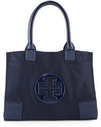 Tory Burch Ella Mini Nylon Tote Bag French Navy - Lyst