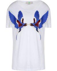 Stella McCartney Swallow Print T-shirt - Lyst
