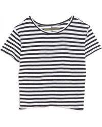 Enza Costa Striped Boy Tee black - Lyst