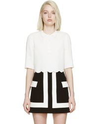 Giambattista Valli Ivory Scalloped Cady Polo - Lyst