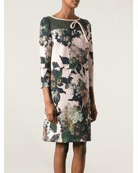 Antonio Marras Floral Print Midi Dress - Lyst