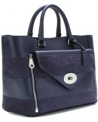 Mulberry | Willow Leather and Suede Tote | Lyst