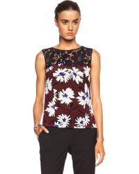 Nina Ricci Multicolor Lace Top - Lyst