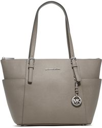 Michael Kors Jet Set Top-Zip Saffiano Leather Tote - Lyst