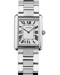Cartier Tank Solo Steel Large Watch - For Men silver - Lyst
