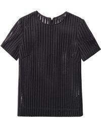 Rag & Bone Oda Sheer Striped Top - Lyst