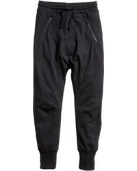 H&M Black Sweatpants - Lyst