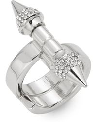 Vita Fede Babylon Double Spike Crystal Ring - Lyst