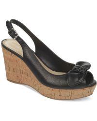 Franco Sarto Vassi Platform Wedge Sandals - Lyst