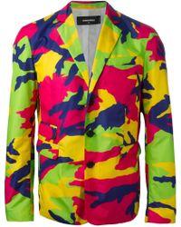 DSquared² Camouflage Blazer multicolor - Lyst