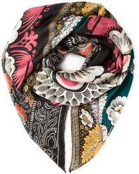 Valentino Mix Floral Print Silk Scarf - Lyst