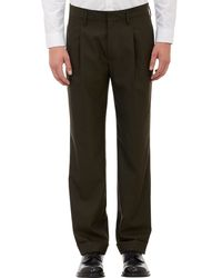 Marc Jacobs Stripeoutseam Pleated Trousers - Lyst