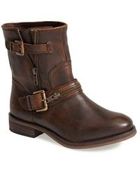 Hinge 'Compadre' Leather Moto Boot - Lyst