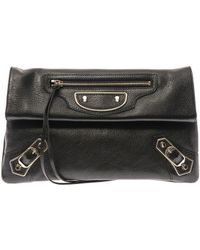 Balenciaga Classic Edgeline Leather Envelope Clutch - Lyst
