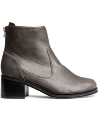 H&M Gray Ankle Boots - Lyst