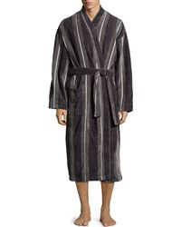 Ike Behar Terry Cloth Stripe Robe - Lyst