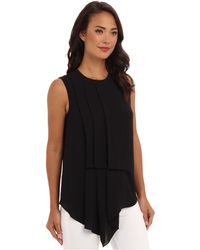 BCBGMAXAZRIA Brea Hip Drape with Side Pleats Top - Lyst