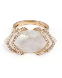 Maiyet | Ribcage Moonstone Skinny Ring | Lyst