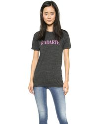 Rodarte Radarte T-Shirt - Charcoal Grey/Hot Pink - Lyst