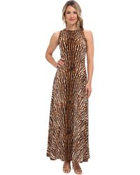 Michael by Michael Kors Mix Print Studded Maxi Dress - Lyst