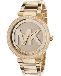 Michael Kors Womens Gold Tone Dial Gold Tone Ip Stainless Steel - Lyst