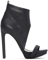Nasty Gal Jeffrey Campbell Sine Leather Bootie - Lyst