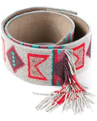 Etro Bead Embellished Belt - Lyst