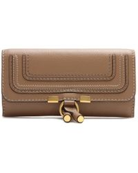 Chloé Marcie Flap-Over Leather Wallet - Lyst